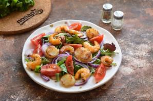 Салат из гребешков с рукколой - фото шаг 6