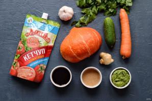 Запеченная тыква с соусом из кетчупа - фото шаг 1