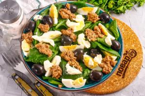 Салат с тунцом и маслинами - фото шаг 7