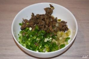 Салат с вешенками - фото шаг 4