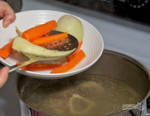 Томатный суп с говядиной и горошком - фото шаг 6