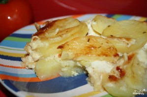 Картошка в духовке со сливками и сыром - фото шаг 4