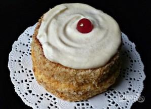 Бисквитные пирожные с кремом - фото шаг 15