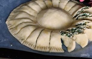 """Пирог """"Солнце"""" с сыром и зеленью - фото шаг 4"""