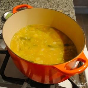 Суп из тыквы с картофелем и луком-пореем - фото шаг 5