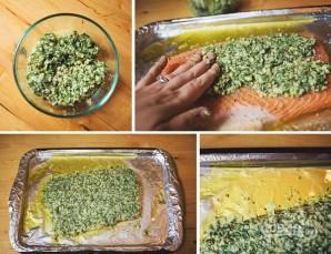 Запеченная семга с зеленью и орехами - фото шаг 6