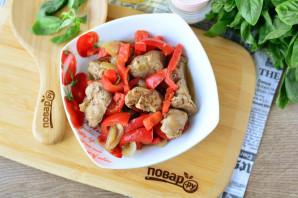 Куриная печень с болгарским перцем - фото шаг 10