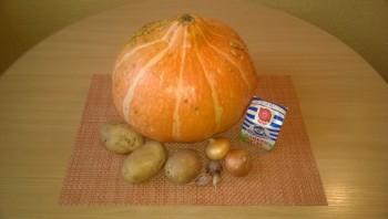 Тыквенный суп-пюре со сливками - фото шаг 1
