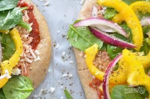Овощная пицца с моцареллой - фото шаг 5