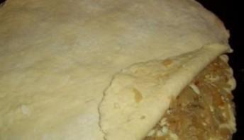 Пирог с капустой из творожного теста - фото шаг 3