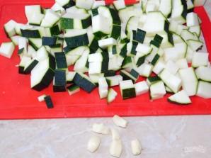 Мясная сковорода с рисом и кабачками - фото шаг 4