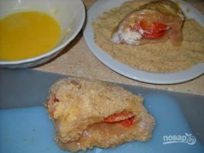 Куриные грудки, фаршированные сыром и пепперони - фото шаг 5