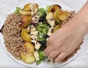Салат с кус-кусом и жареными яблоками - фото шаг 6