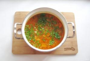 Томатный суп с фасолью и курицей - фото шаг 10