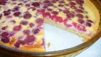 Пирог с малиной - фото шаг 5