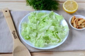 Салат из пекинской капусты с куриной грудкой - фото шаг 4