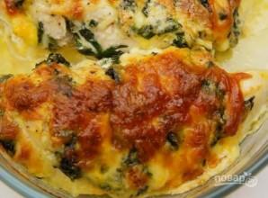 Фаршированная сыром и шпинатом куриная грудка - фото шаг 5