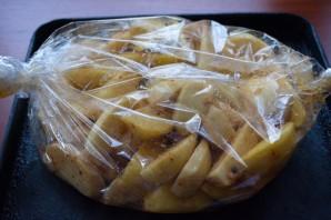 Картофель по-деревенски в рукаве - фото шаг 5