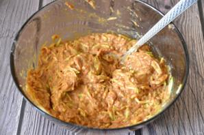 Печеночные оладьи с кабачком - фото шаг 4