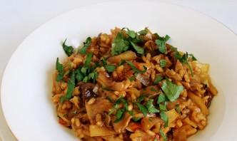 Грибная солянка с рисом и капустой - фото шаг 10