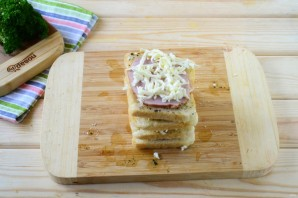 Гармошка из бутербродов - фото шаг 5