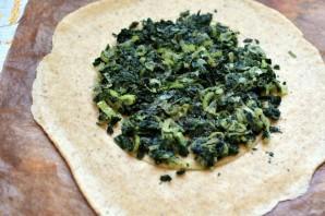 Галета со шпинатом, зеленым луком и адыгейским сыром - фото шаг 5