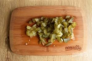 Салат из куриной печени слоеный - фото шаг 4