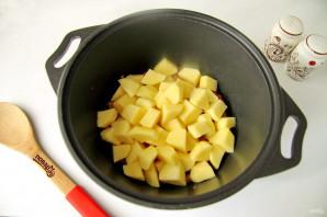 Рагу с краковской колбасой - фото шаг 6