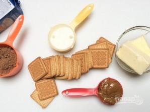 """Шоколадная колбаска """"Сладкоежка"""" - фото шаг 1"""