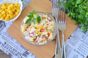 Крабовый салат с омлетом - фото шаг 8