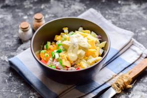Салат с крабовыми палочками и мандаринами - фото шаг 6