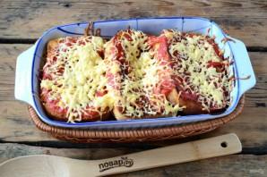 Бутерброды под сырно-томатной подушкой - фото шаг 9