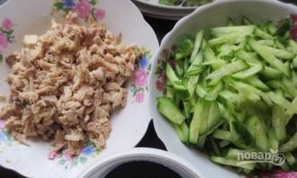 Салат из курицы с корейской морковью - фото шаг 2