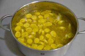 Куриный суп с чесночными галушками - фото шаг 11