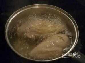 Cалат из куриного филе с шампиньонами - фото шаг 1