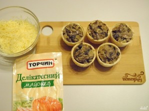 Тарталетки с грибами - фото шаг 5