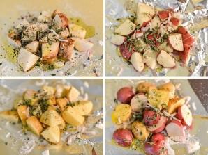Картофель в фольге на гриле - фото шаг 1