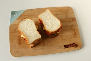 Сэндвич с котлетой - фото шаг 9