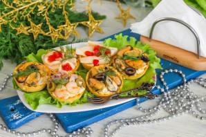 Тарталетки с морепродуктами на Новый год - фото шаг 5