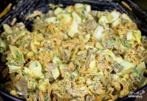 Салат с жареной печенью - фото шаг 14
