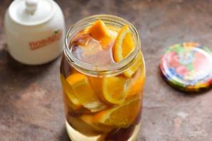 Компот из персиков и апельсинов на зиму - фото шаг 6