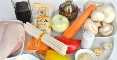 """Лапша """"Удон"""" с курицей и овощами  - фото шаг 1"""