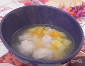 Суп с фрикадельками без зажарки - фото шаг 5