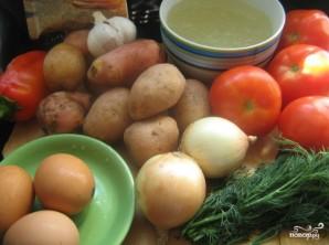 Картофельный суп с помидорами - фото шаг 1