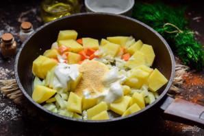 Картошка со сметаной и чесноком - фото шаг 4