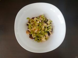 Салат с грибами и яблоками - фото шаг 4