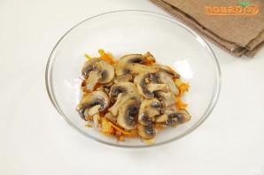 Кальмары, фаршированные рисом с грибами - фото шаг 3