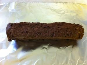 Шоколадные колбаски из печенья - фото шаг 6