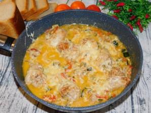 Куриная сковорода с кабачками - фото шаг 6