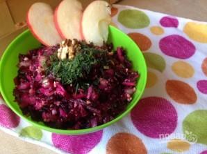 Салат из вареной свеклы без майонеза - фото шаг 6